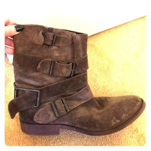 Brown ankle booties